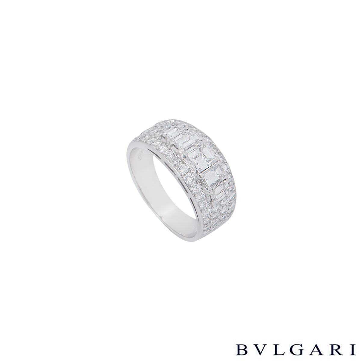 Bvlgari Platinum Diamond Eternity Ring